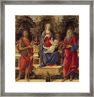 Madonna With Saints Framed Print by Sandro Botticelli