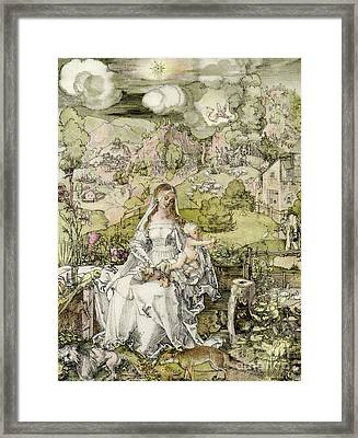 Madonna With The Animals Framed Print