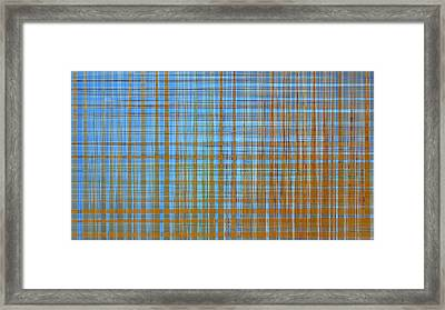 Madras Plaid Framed Print