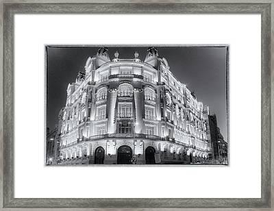 Madrid At Night Framed Print