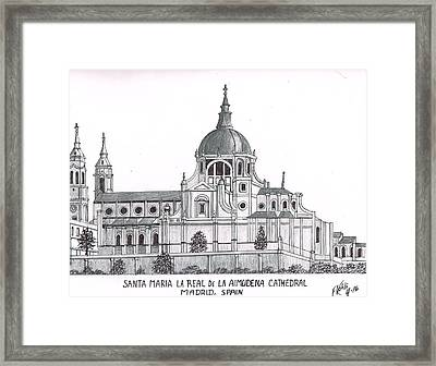 Madrid Cathedral Aimudena Framed Print