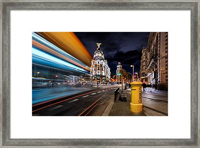 Madrid City Lights IIi Framed Print by Jes?s M. Garc?a