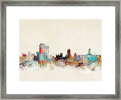 Framed Print featuring the painting Madrid Spain by Bri B