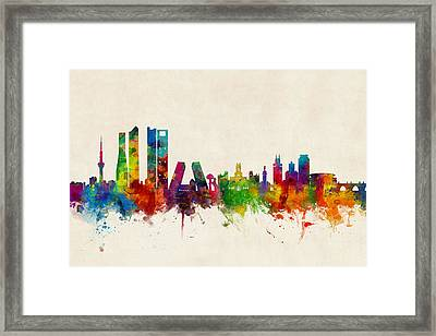 Madrid Spain Skyline Framed Print
