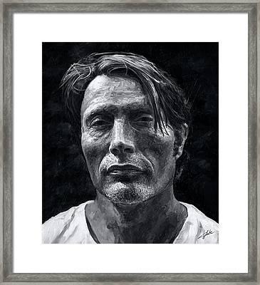 Mads Mikkelsen Framed Print