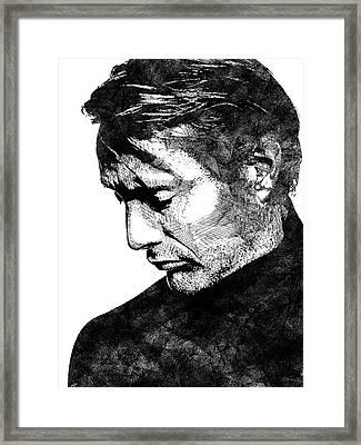 Mads Mikkelsen Framed Print by Mihaela Pater