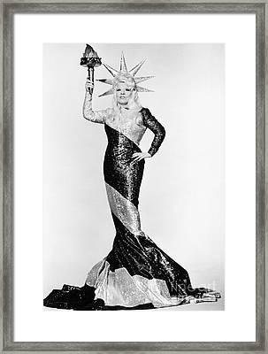 Mae West (1892-1980) Framed Print by Granger