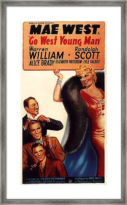 Mae West In Go West Young Man 1936 Framed Print