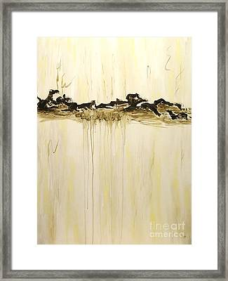 Maelstrom Original Contemporary Modern Abstract Painting Framed Print by Itaya Lightbourne