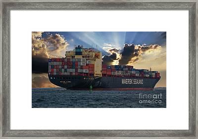 Maersk Sealand Leaving Charleston South Carolina Framed Print