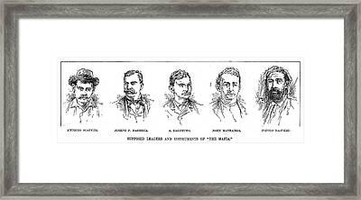 Mafia Leaders, C1890 Framed Print by Granger