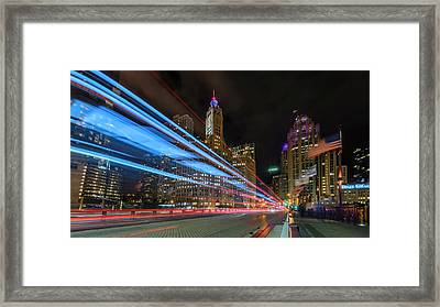 Framed Print featuring the photograph Mag Mile Warp Speed by Sean Foster