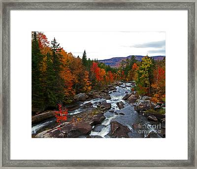 Magalloway River In Fall Framed Print