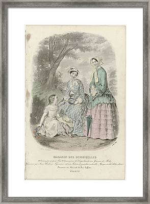 Magasin Des Demoiselles, 25 Mai 1849, J. Desjardins, 1849 Framed Print by Celestial Images