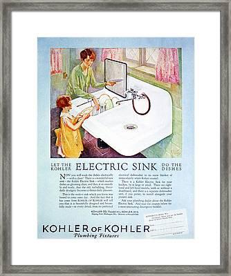 Magazine Ad, 1926 Framed Print