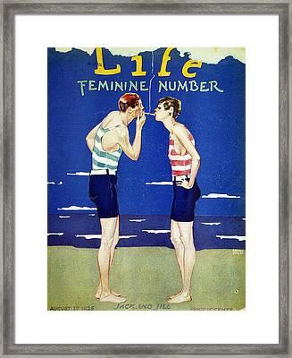 Magazine Cover, 1925 Framed Print
