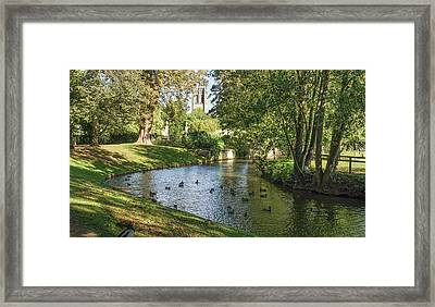 Framed Print featuring the photograph Magdalen From The River Cherwell by Joe Winkler