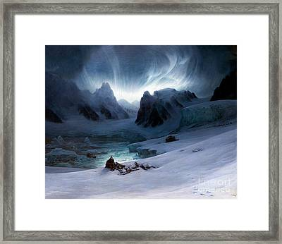 Magdalena Bay, View From The Peninsula Of The Tombs, Northern Sp Framed Print by Peter Barritt