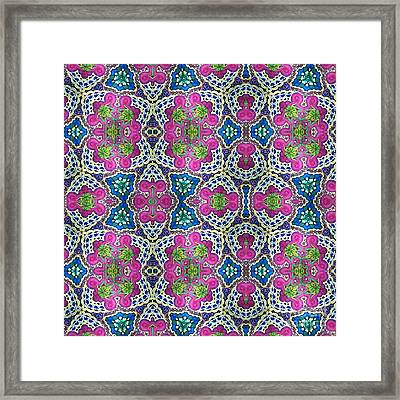 Magenta And Lime Framed Print by Ruth Dailey