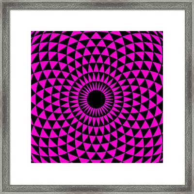 Magenta Balance Framed Print