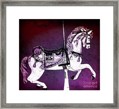 Magenta Carousel Horse Framed Print