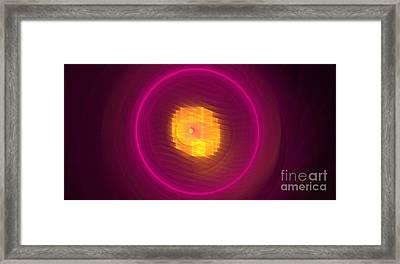 Magenta Eclipse Framed Print by Kim Sy Ok