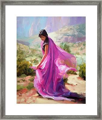 Magenta In Zion Framed Print