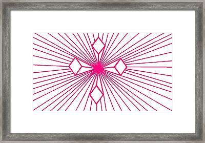 'magenta Lines 1' Framed Print