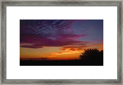 Magenta Morning Sky Framed Print