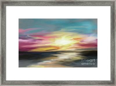 Magenta Sea Framed Print