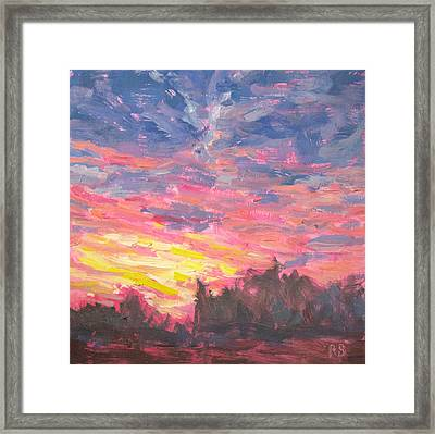 Magenta Sky Framed Print