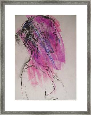 Magenta Framed Print by Tina Siddiqui