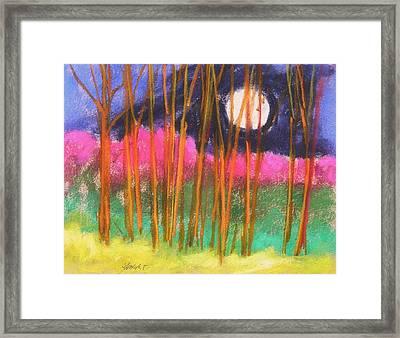 Magenta Treeline Framed Print