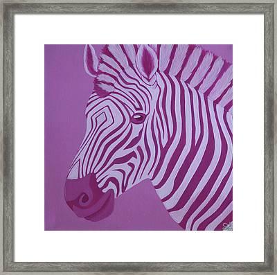 Magenta Zebra Framed Print