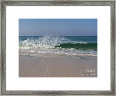 Magestic Wave Framed Print
