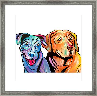 Maggie And Raven Framed Print