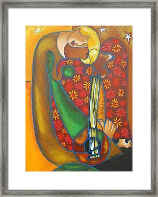 Maggie Guitar Framed Print by Marta Giraldo