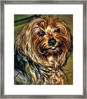 Maggie Smiles Framed Print