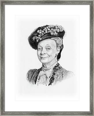 Maggie Smith As The Dowager Countess, Downton Abbey Framed Print