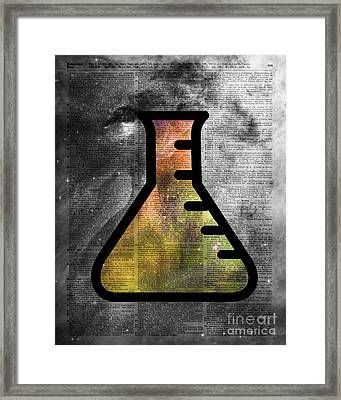 Magic Alchemy Vial Over  Dictionart Art Framed Print by Jacob Kuch