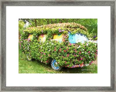 Magic Bus Framed Print by Debbi Granruth