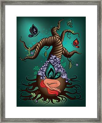 Magic Butterfly Tree Framed Print by Serena King