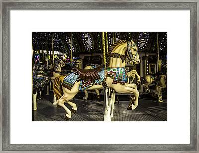 Magic Carrousel Horse Ride Framed Print by Garry Gay