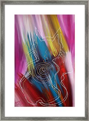 Magic Cat Framed Print by Laura Barbosa