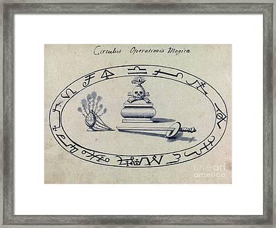 Magic Circle, Cabbalistic Symbols, 18th Framed Print