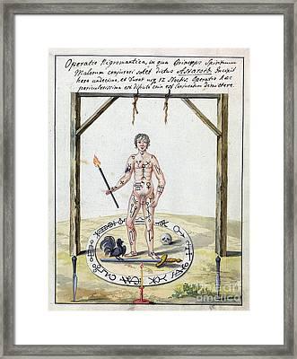 Magic Circle Ritual, 18th Century Framed Print