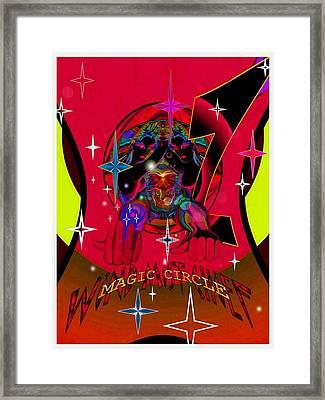 Magic Circle Wind Mist Chief Framed Print by Ritchard Mifsud