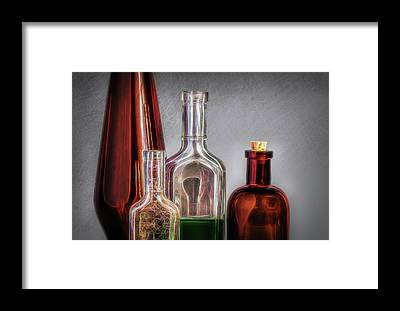 Medicine Bottles Framed Prints