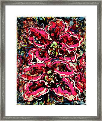 Magic Fire Orchid Framed Print