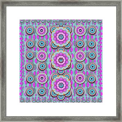 Magic Flowers From  The Paradise Of Lotus Framed Print